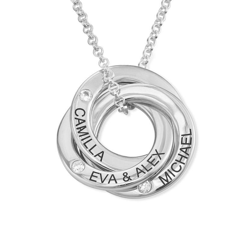 Collar anillo ruso con circonia cúbica en plata product photo