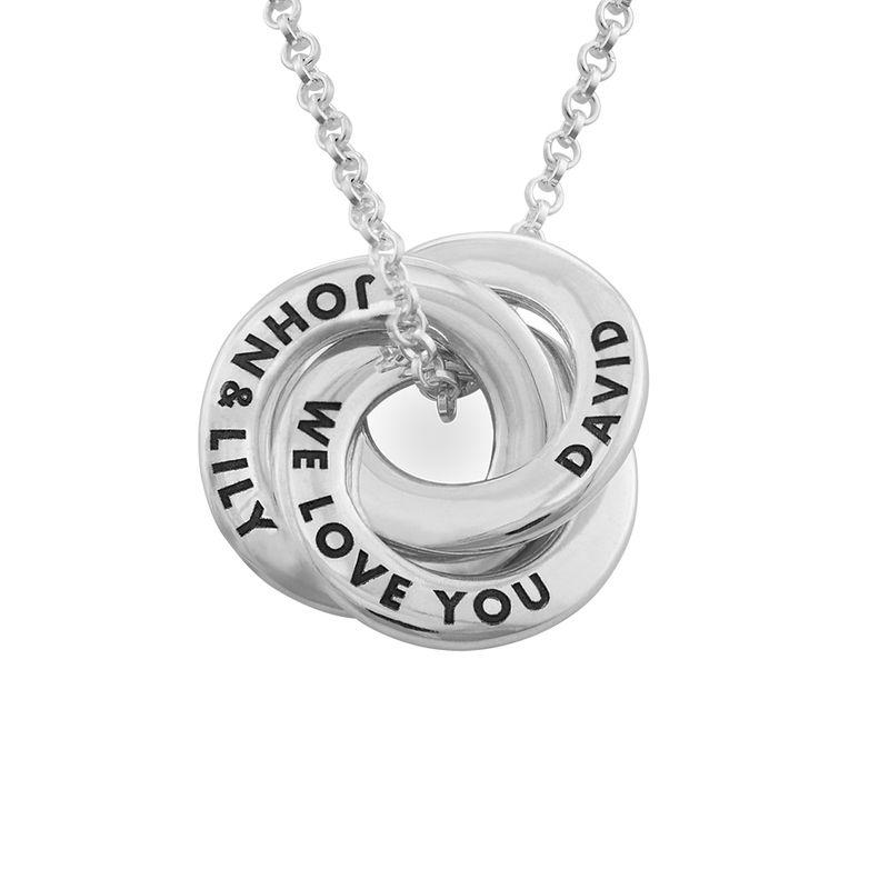 Collar anillo ruso en plata - diseño mini