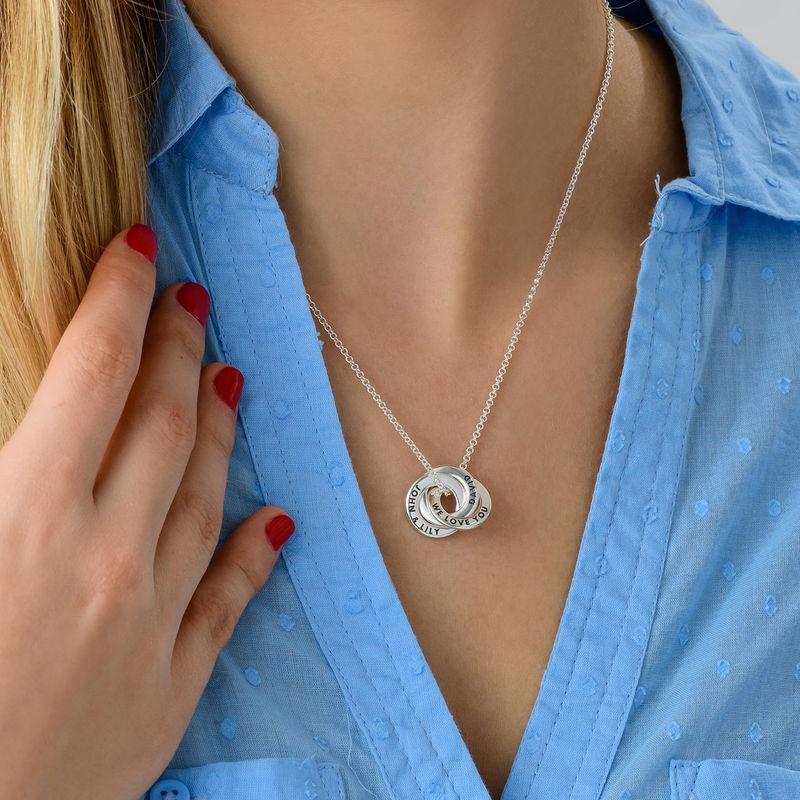 Collar anillo ruso en plata - diseño mini - 2