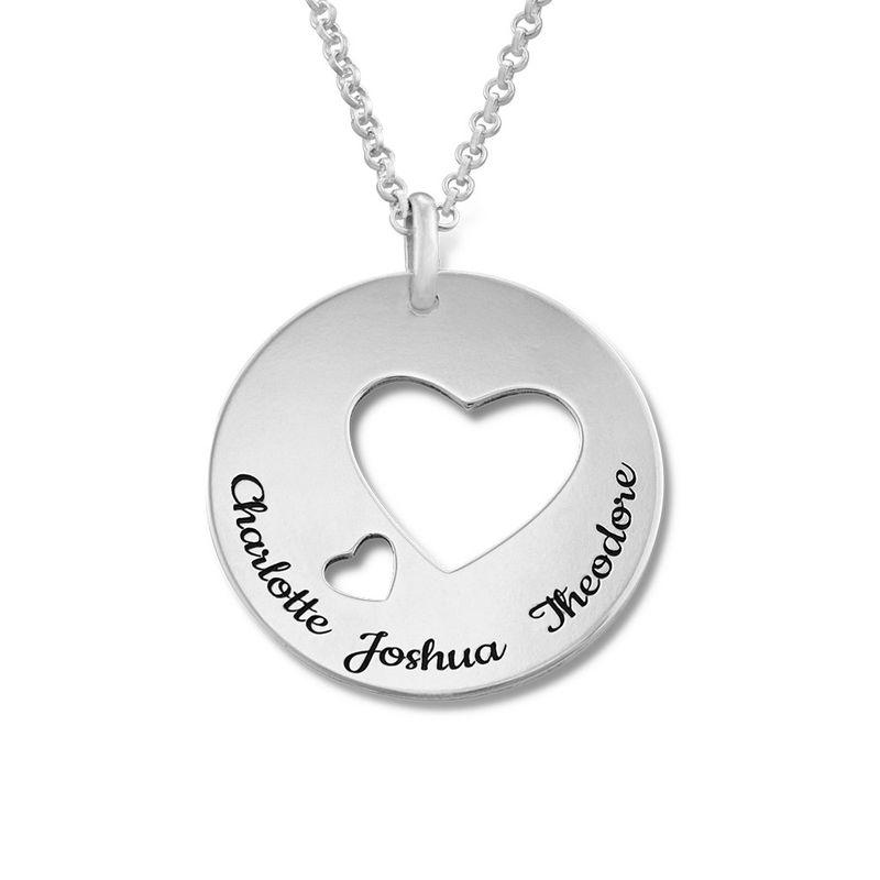Collar círculo de amor en plata