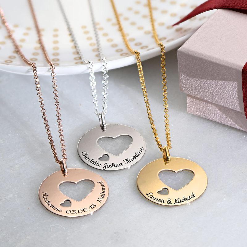Collar círculo de amor en plata - 1