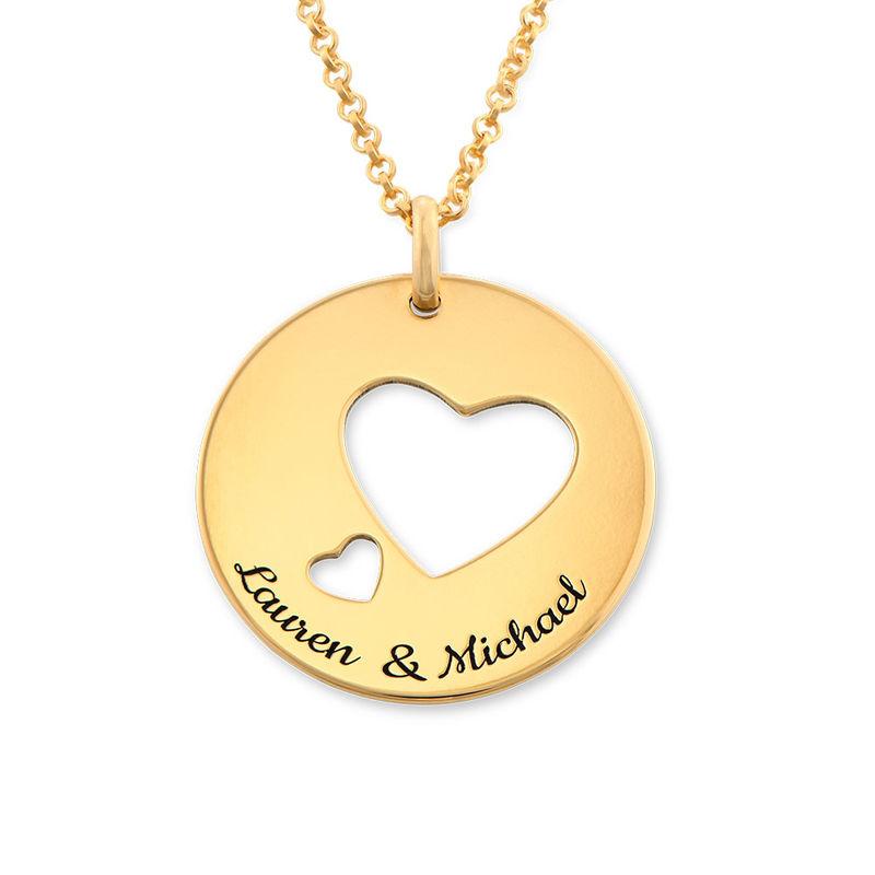 Collar círculo de amor chapado en oro foto de producto