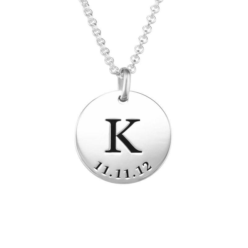 Collar personalizado con iniciales y fecha en plata 925
