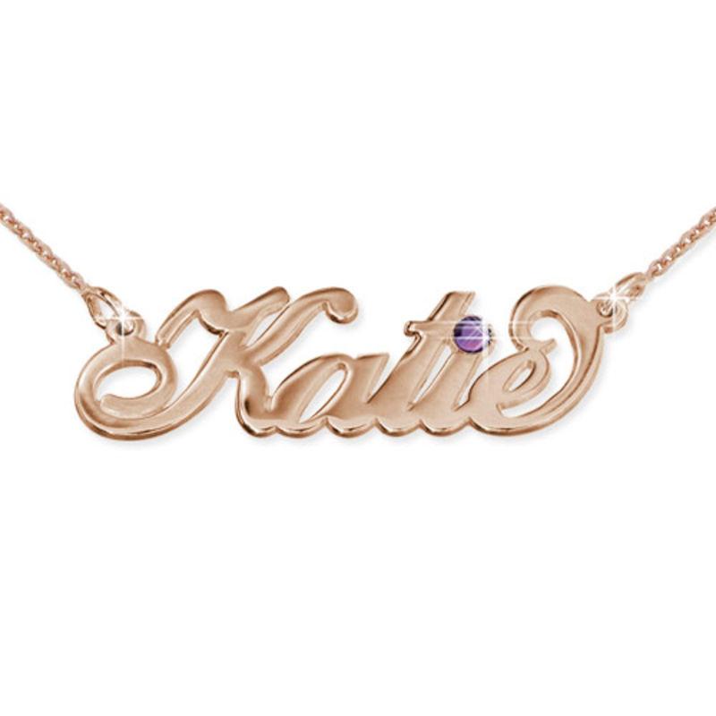 Collar con Nombre Swarovski Chapado en Oro Rosa foto de producto