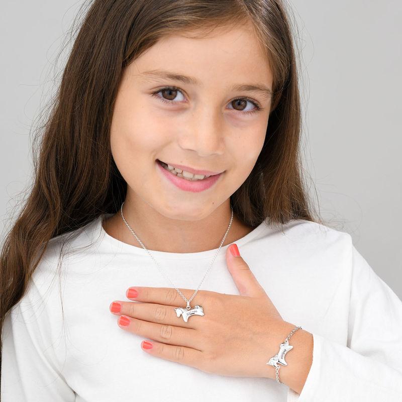 Collar de unicornio para niñas en plata 925 con circonia cúbica - 3