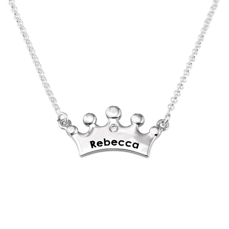 Collar para niñas con corona de princesa y circonia cúbica