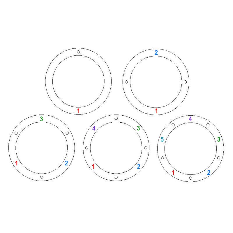 Collar con círculo personalizado con diamantes chapado en oro - 4