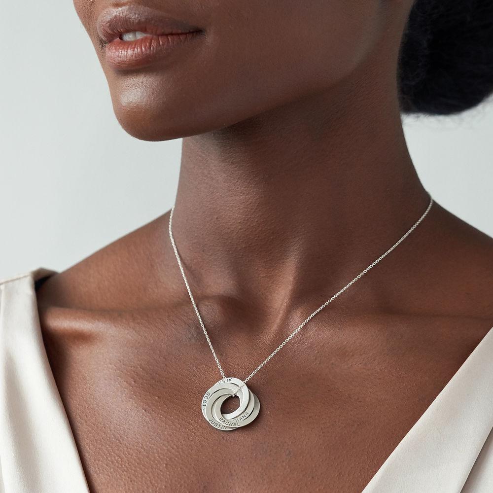 Collar de anillo ruso con cinco anillos en plata 925 - 2