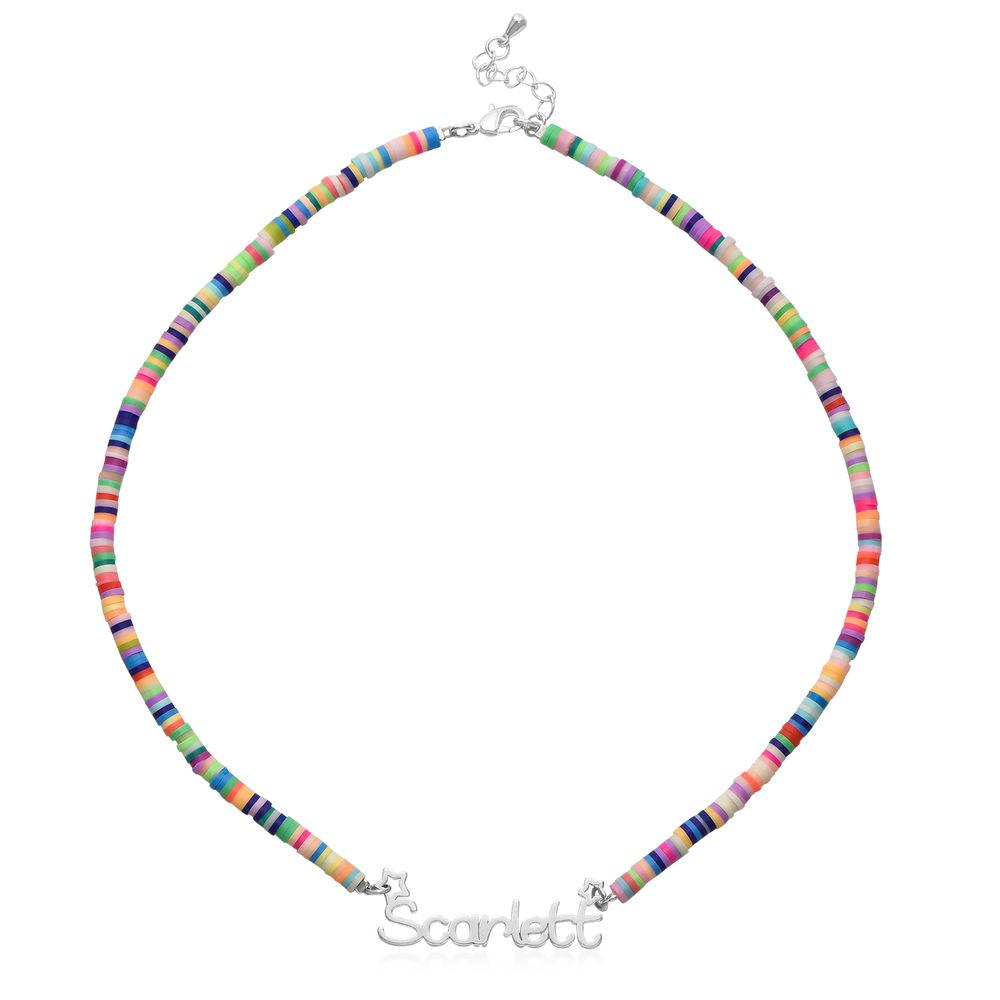 Collar de Cordón con Nombre para Niñas en Plata de Ley - 1