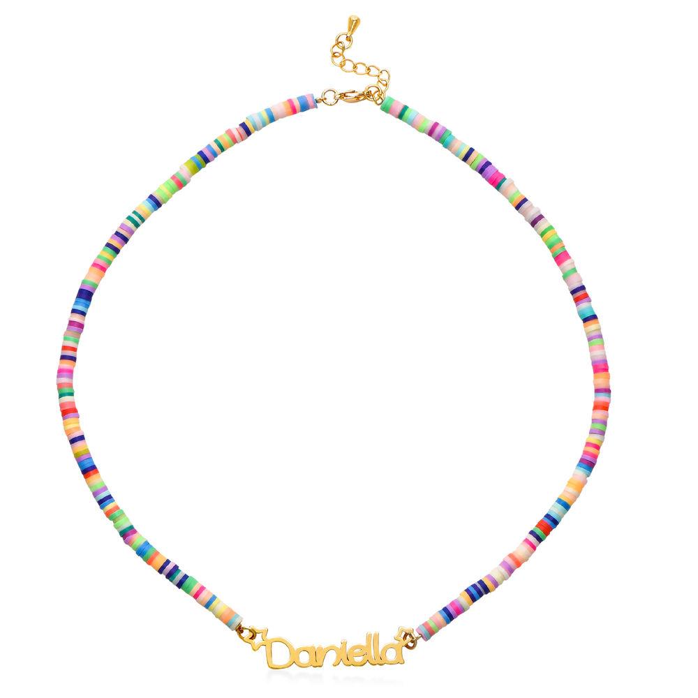 Collar de Cordón con Nombre para Niñas Chapado en Oro 18K - 1