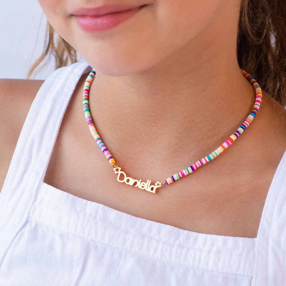 Collar de Cordón con Nombre para Niñas Chapado en Oro 18K - 2