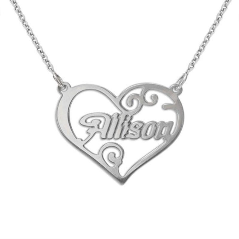Collar Personalizado con Nombre en el Corazón