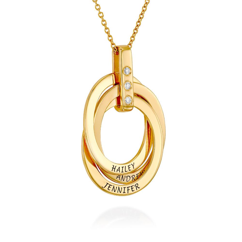 Collar de Anillo Ruso con Diamante en Oro Vermeil - 1