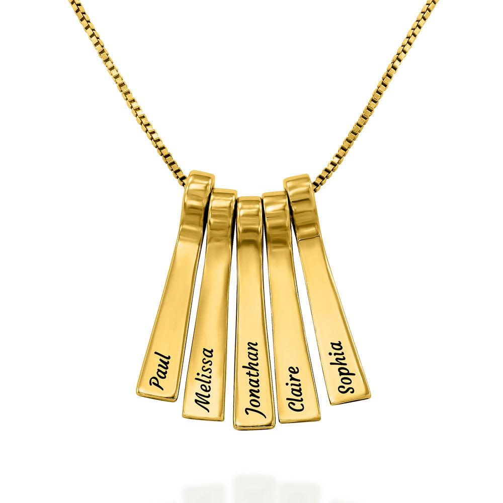 Collar xilófono de barra con nombres de niños en chapa de oro de 18k