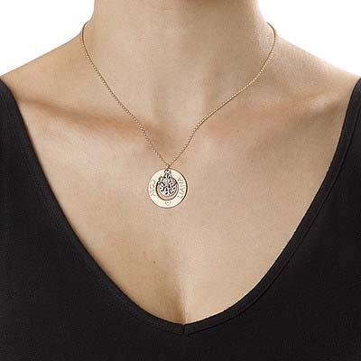 Collar Árbol de la Vida Chapado en Oro con Piedras de la Fortuna - 1