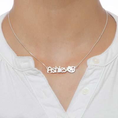Lindo Collar con Nombre Gatito para Niñas - 1