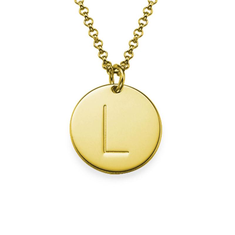 Collar con encantos de iniciales chapado en Oro de 18K - 1