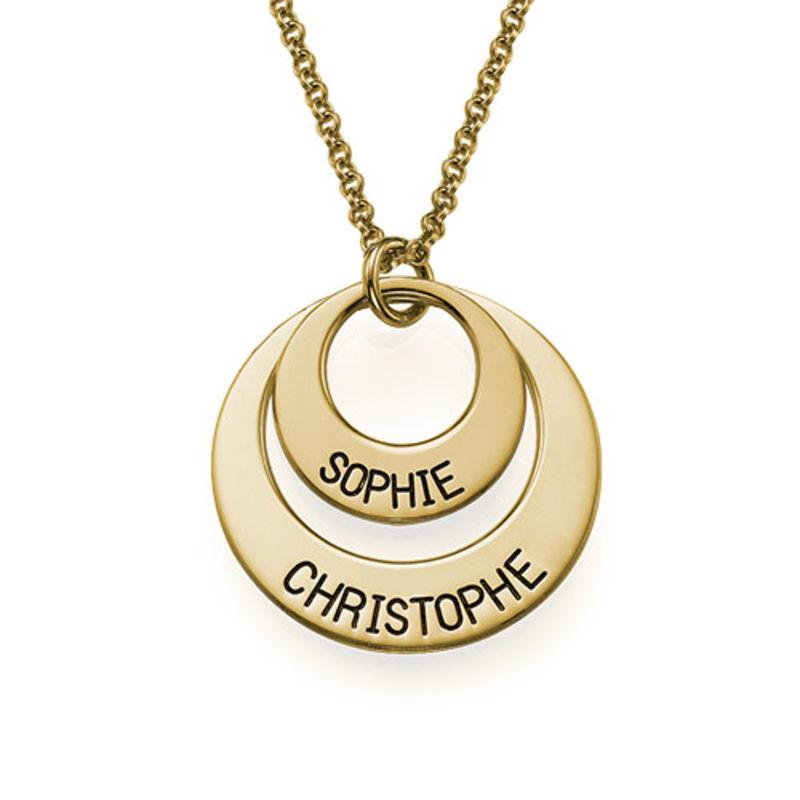 Joyería para Mamá – Collar de Discos Chapado en Oro foto de producto