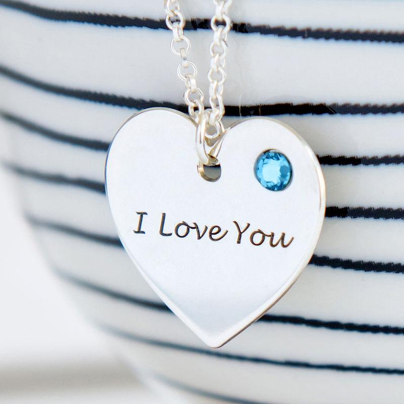 Collar Corazón Personalizado con Piedras del nacimiento - 1