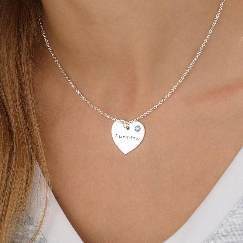 Collar Corazón Personalizado con Piedras del nacimiento - 2