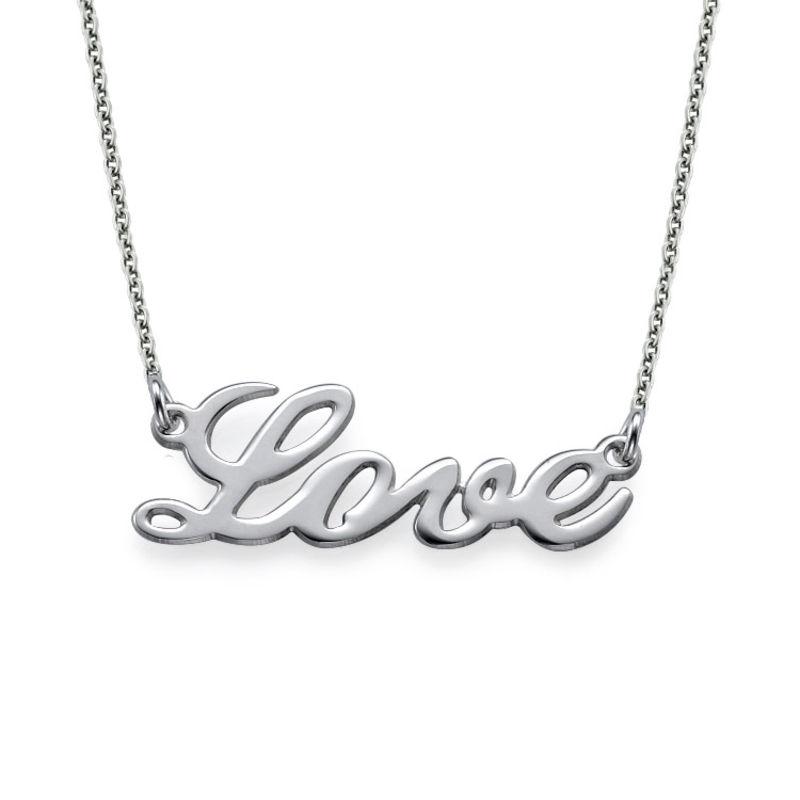 Collar Cursivo de LOVE de Plata