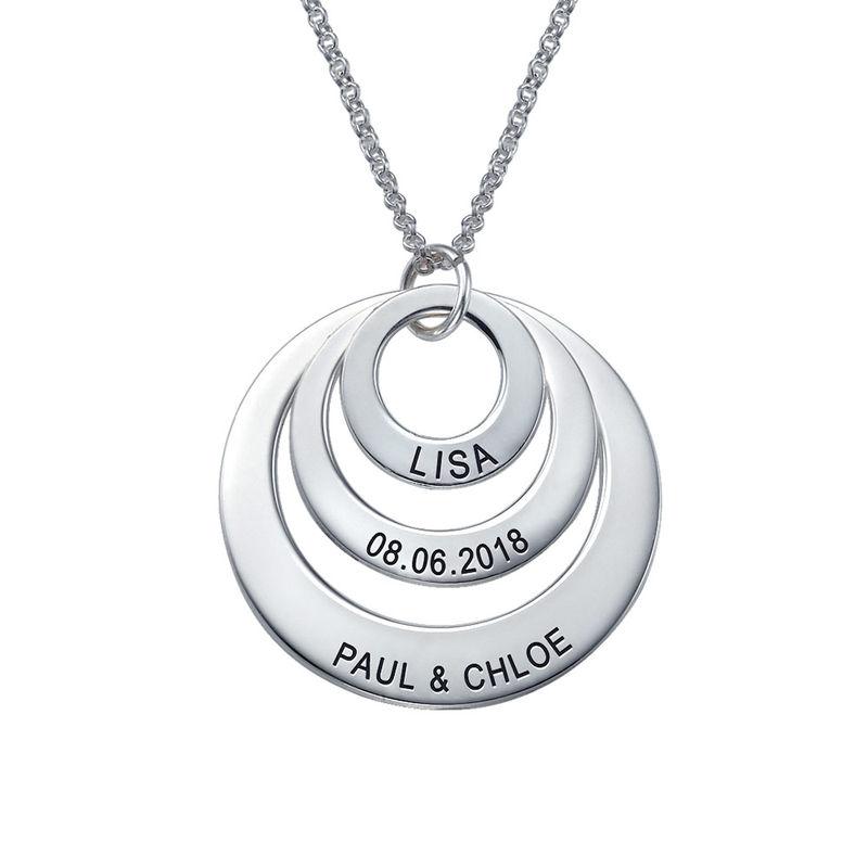 Joyería para Mamá-Collar de tres discos en Plata de ley 0.925 - 2