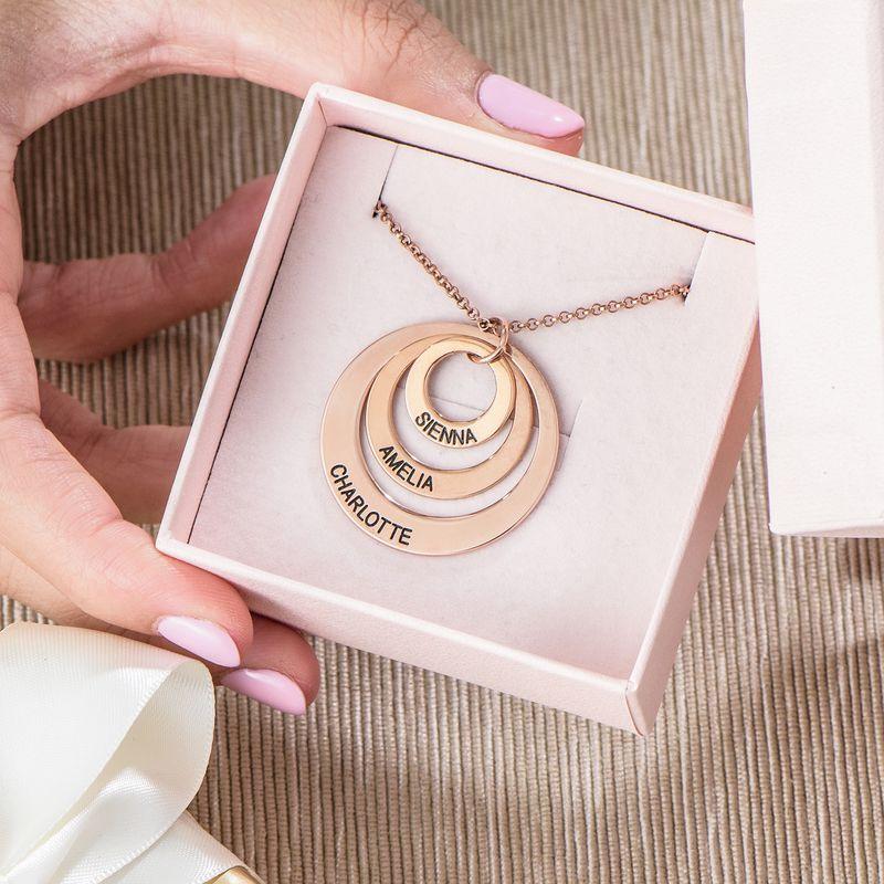 Joyería para Mamá – Collar de Tres Discos en Chapa de Oro Rosa - 6