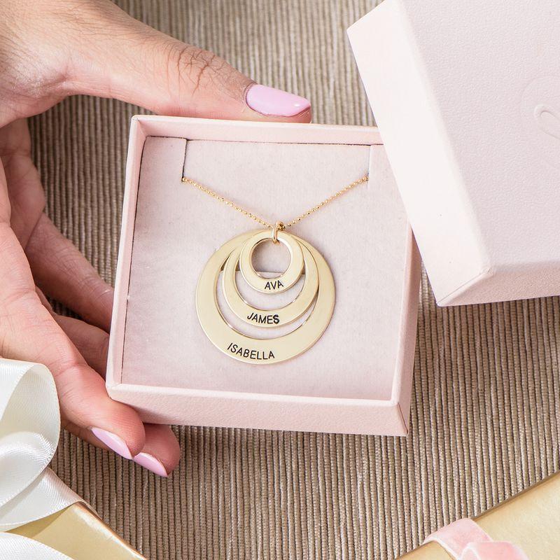 Joyas para Mamá - Collar de Tres Discos en oro de 10K - 4