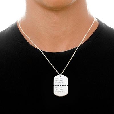 Collar Militar con Nombre en Plata de ley - 2