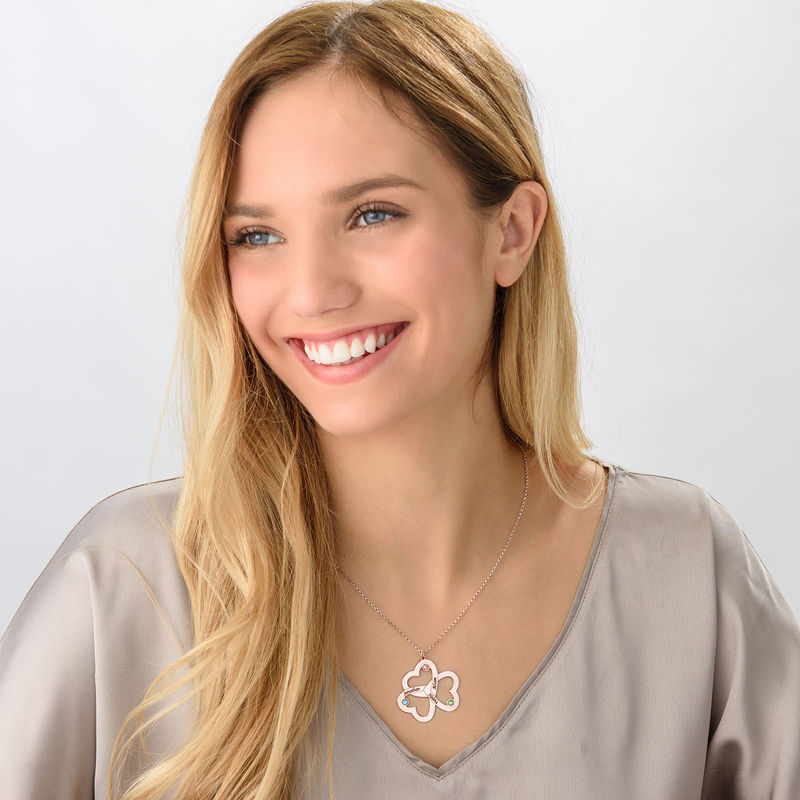 Collar de Triple Corazón en Chapa de Oro Rosa - 2