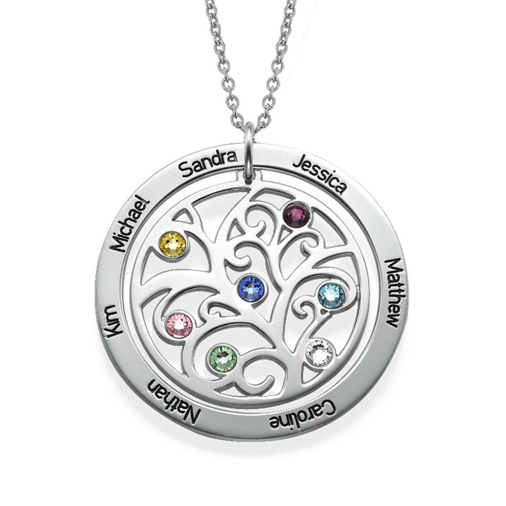 Collar con Árbol de la vida con Piedras del Zodiaco