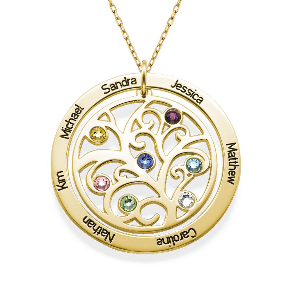 Collar con Árbol de la vida con Piedras del Zodiaco en Oro  de 10K - 1