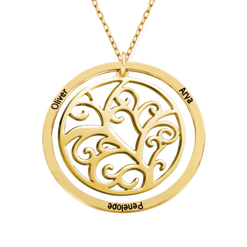 Collar con Árbol de la vida con Piedras del Zodiaco en Oro  de 10K - 2
