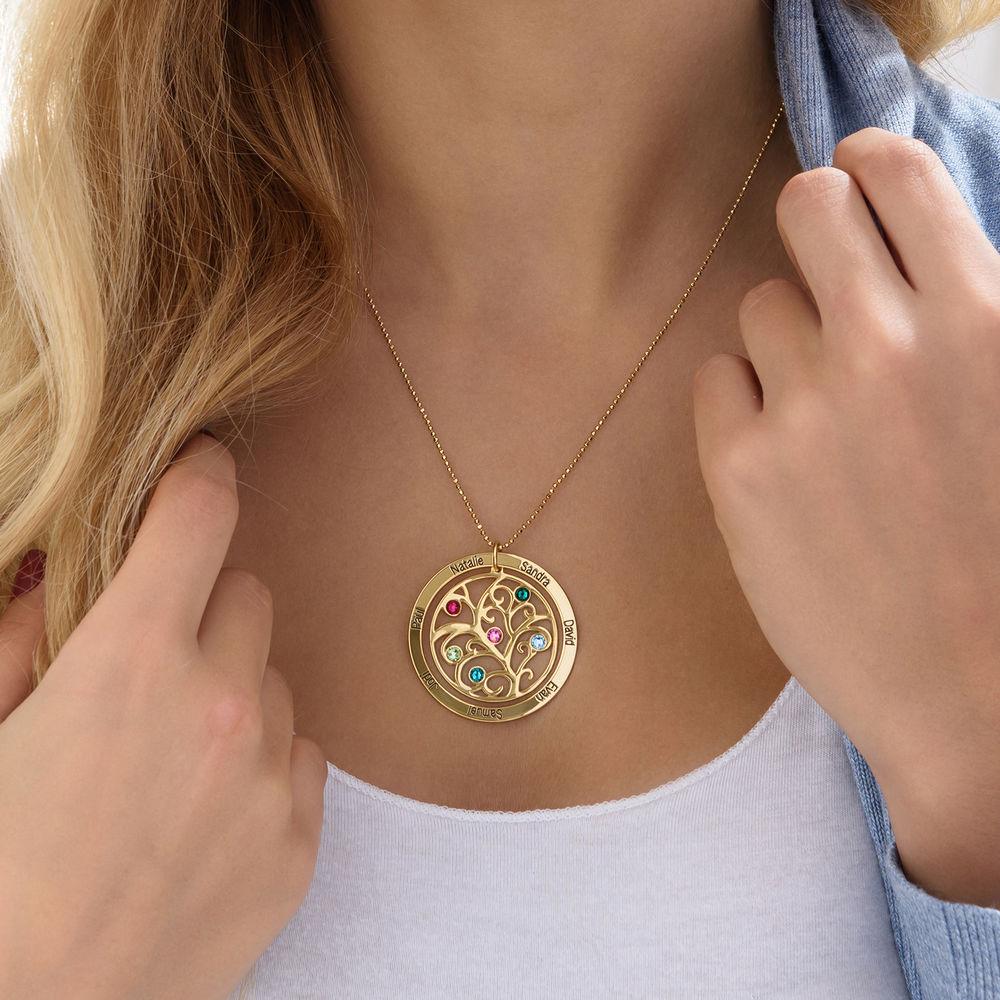 Collar con Árbol de la vida con Piedras del Zodiaco en Oro  de 10K - 4