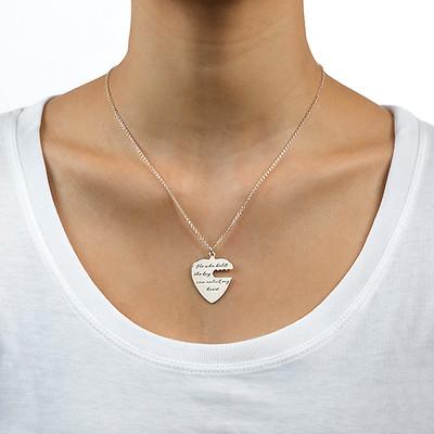 Collar Llave de Corazón Grabado - 3