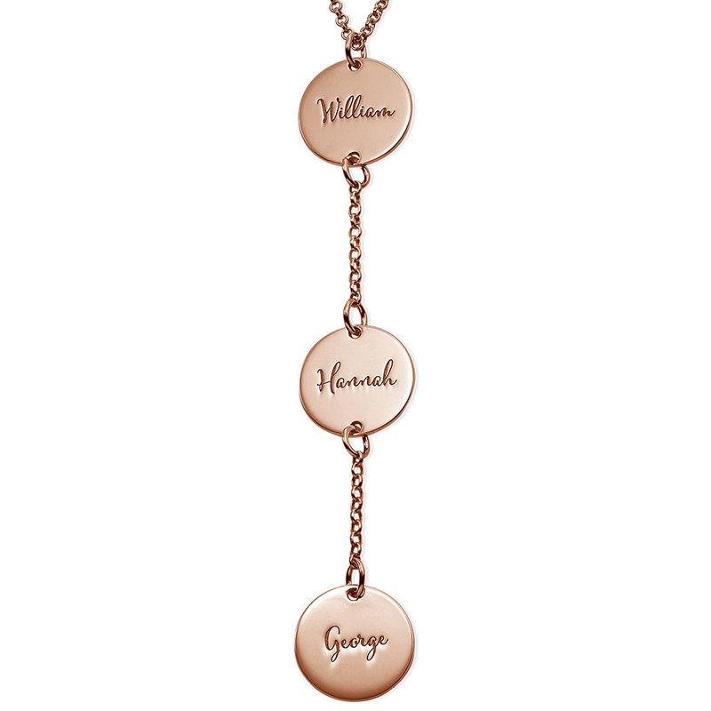 Collar personalizado en forma de Y Chapado en Oro Rosa foto de producto