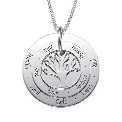 Collar Árbol Familiar - Joyería Personalizable para Mamá