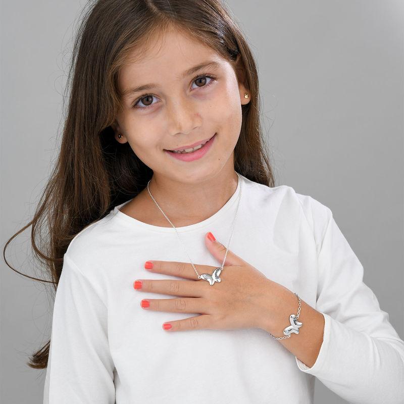 Pulsera de mariposa para niñas en plata 925 con circonia cúbica - 3