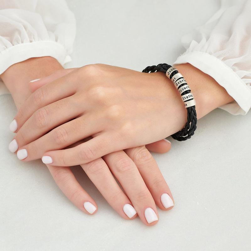 Pulsera de mujer con cuentas pequeñas personalizadas en plata - 3
