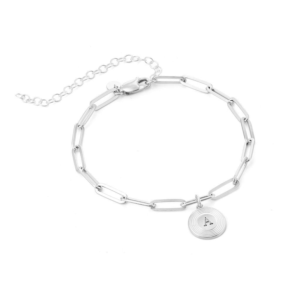 Odeion Pulsera / Tobillera de cadena de eslabón inicial en plata