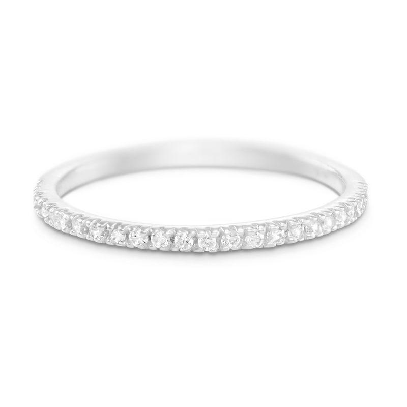 Delicado anillo con circonia cúbica en plata 925 product photo