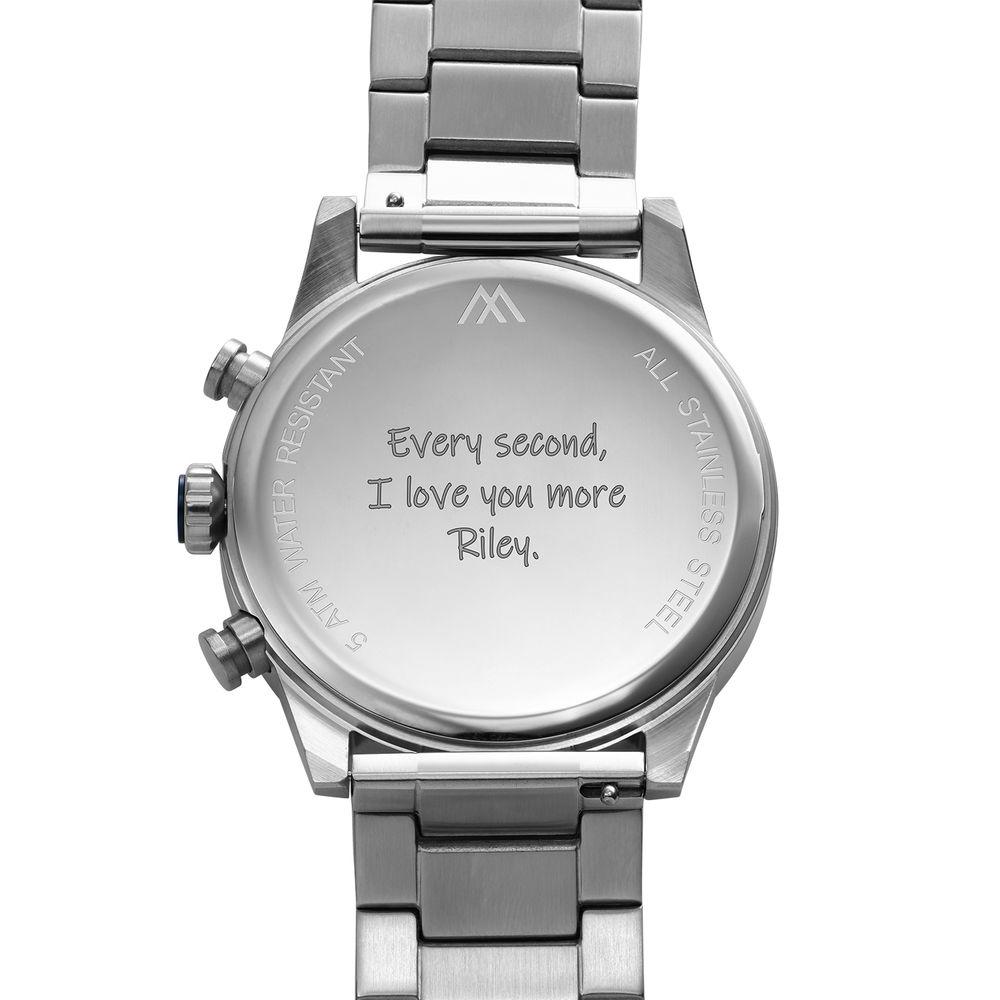 Reloj Quest Cronómetro de acero inoxidable para hombres - 4