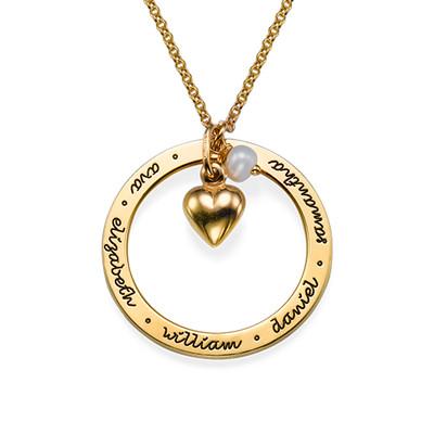 Collar Personalizado Para Mamá chapado en oro foto de producto