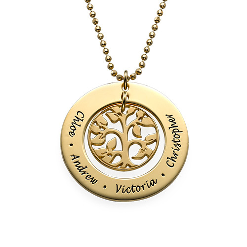 Árbol de la Familia chapado en Oro