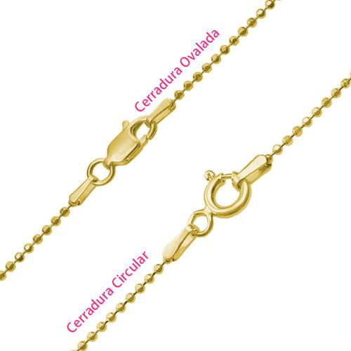 Collar Árbol de la Familia en Corazón Chapado en Oro 18k - 2