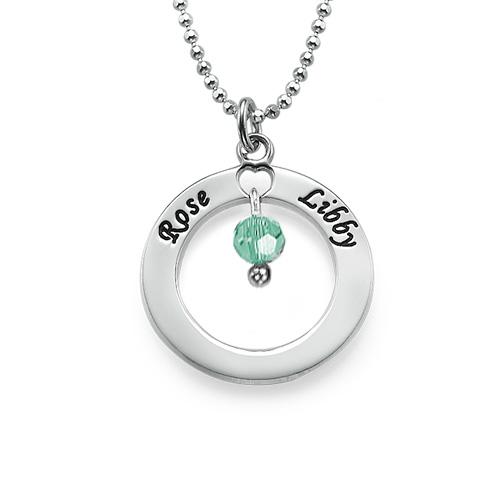 Collar Círculo de Plata con Piedra de la Fortuna - 1