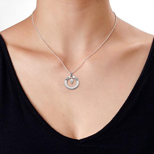 Collar Círculo de Plata con Piedra de la Fortuna - 2