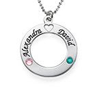 Collar Círculo de la Vida con Piedras de la Fortuna Swarovski