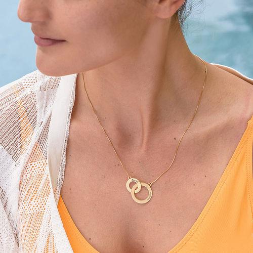 Collar Círculos de Eternidad grabado en chapa de oro - 2