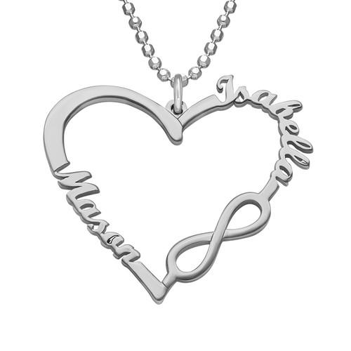 Collar Corazón Infinito Personalizado - 1